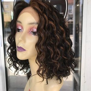 Accessories - Wig Swisslace human hair Blende Short Curly Wig